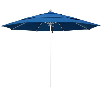11 Phat Tommy Silver Anodized Market Umbrella Fabric: Pacific Blue