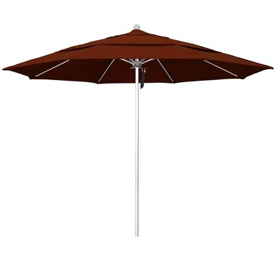 11 Phat Tommy Silver Anodized Market Umbrella Fabric: Brick