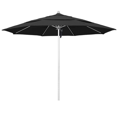 11 Phat Tommy Silver Anodized Market Umbrella Fabric: Black