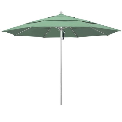 11' Phat Tommy Silver Anodized Market Umbrella Fabric: Spa 332-ALTO118.PAC.SPA