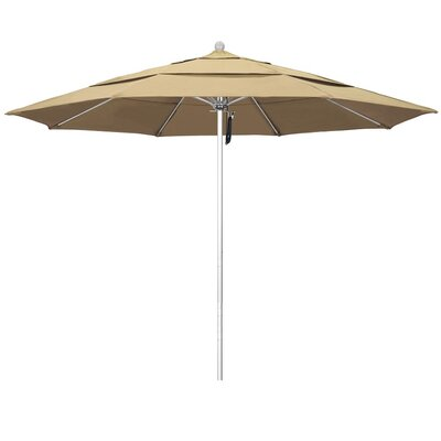 11' Phat Tommy Silver Anodized Market Umbrella Fabric: Black 332-ALTO118.PAC.BLACK