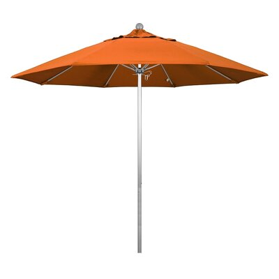 9 Phat Tommy Silver Anodized Market Umbrella Fabric: Tuscan