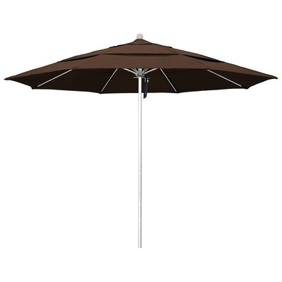 11 Phat Tommy Silver Anodized Market Umbrella Fabric: Mocha