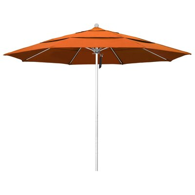 11 Phat Tommy Silver Anodized Market Umbrella Fabric: Tuscan