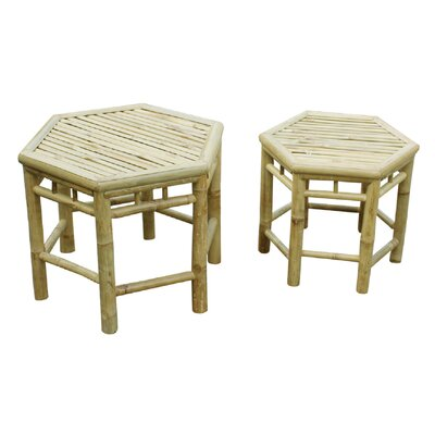 Phat Tommy 2 Piece Octagonal End Table Set Finish: Natural