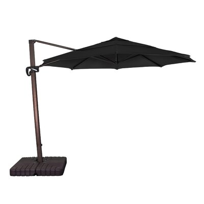 11 Phat Tommy Cantilever Umbrella Fabric: Black