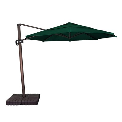11 Phat Tommy Cantilever Umbrella Fabric: Forest Green