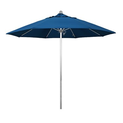 9 Phat Tommy Silver Anodized Market Umbrella Fabric: Pacific Blue