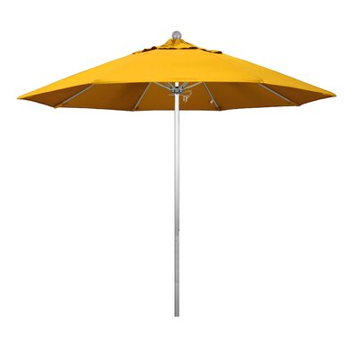 9 Phat Tommy Silver Anodized Market Umbrella Fabric: Yellow