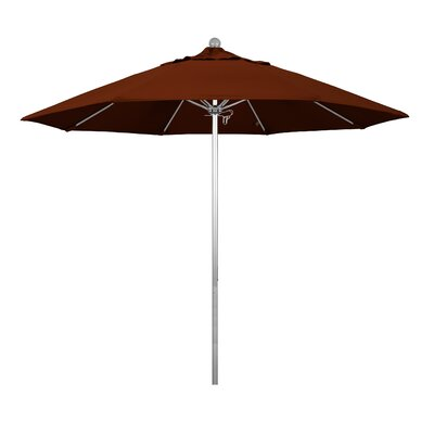 9 Phat Tommy Silver Anodized Market Umbrella Fabric: Brick