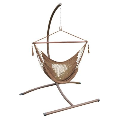 Phat Tommy Patio Garden Chair Hammock with Stand Color: Mocha
