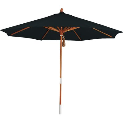 7.5 Phat Tommy Market Umbrella Fabric: Mocha, Material: Wood