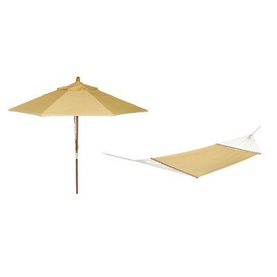 Phat Tommny Sunbrella Tree Hammock with Umbrella Color: Cornsilk