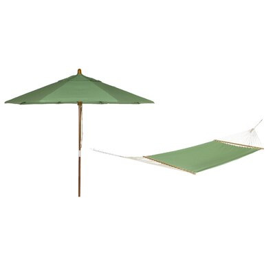 Phat Tommny Sunbrella Tree Hammock with Umbrella Color: Paradise