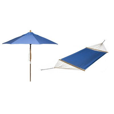 Phat Tommny Sunbrella Tree Hammock with Umbrella Color: Capri