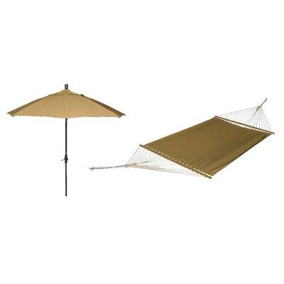 Phat Tommny Sunbrella Tree Hammock with Umbrella Color: Brass