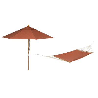 Phat Tommny Sunbrella Tree Hammock with Umbrella Color: Papaya
