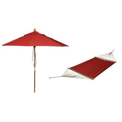 Phat Tommny Sunbrella Tree Hammock with Umbrella Color: Jockey Red