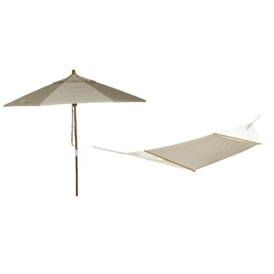 Phat Tommny Sunbrella Tree Hammock with Umbrella Color: Dove
