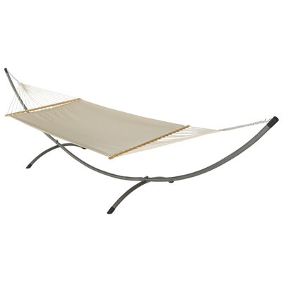 Phat Tommy Sunbrella Hammock with Stand Color: Dove, Base Color: Black