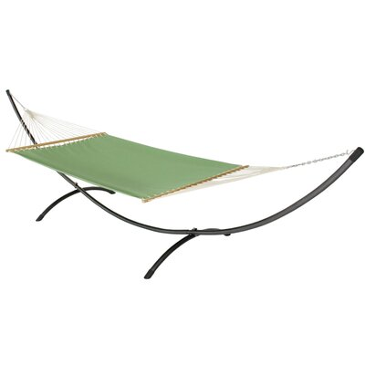Phat Tommy Sunbrella Hammock with Stand Color: Paradise, Base Color: Black