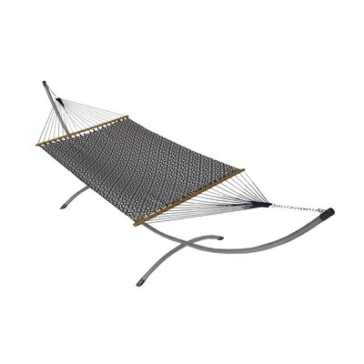 Phat Tommy Sunbrella Hammock with Stand Color: Indigo Luxe, Base Color: Pewter
