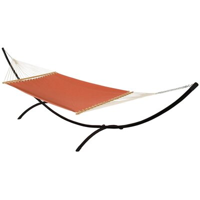 Phat Tommy Sunbrella Hammock with Stand Color: Papaya, Base Color: Black