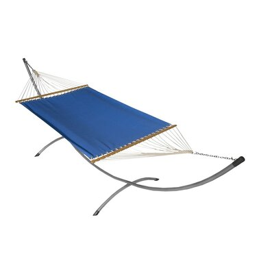 Phat Tommy Sunbrella Hammock with Stand Color: Capri, Base Color: Pewter