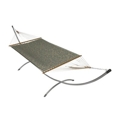 Phat Tommy Sunbrella Hammock with Stand Color: Cab Blue Haze, Base Color: Pewter