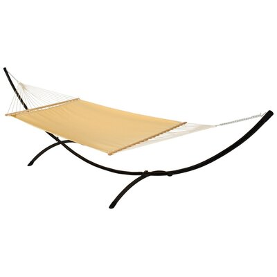 Phat Tommy Sunbrella Hammock with Stand Color: Cornsilk, Base Color: Black