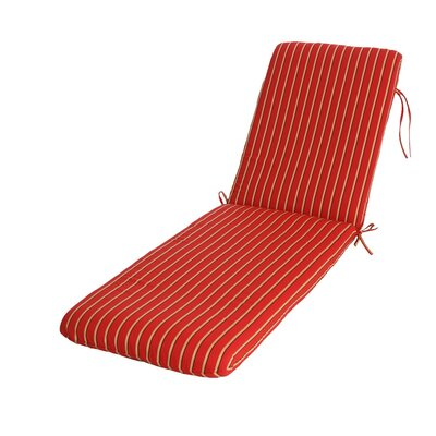 Phat Tommy Outdoor Sunbrella Chaise Lounge Cushion Color: Crimson
