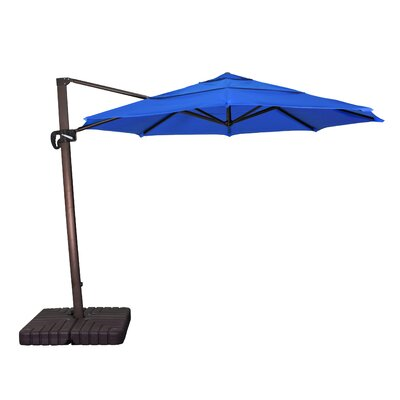 11 Phat Tommy Cantilever Umbrella Fabric: Pacific Blue