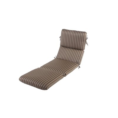 Phat Tommy Outdoor Sunbrella Chaise Lounge Cushion Color: Cocoa