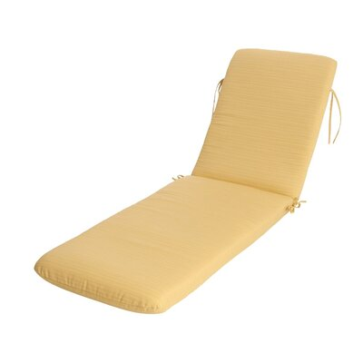Phat Tommy Outdoor Sunbrella Chaise Lounge Cushion Color: Cornsilk