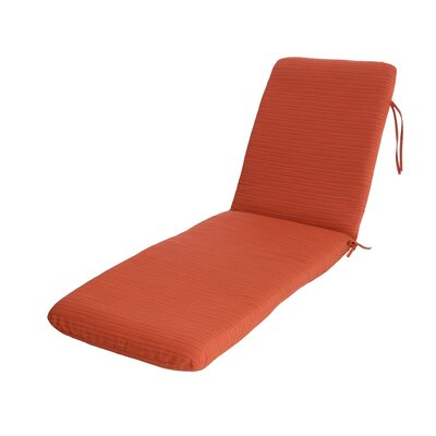 Phat Tommy Outdoor Sunbrella Chaise Lounge Cushion Color: Papaya