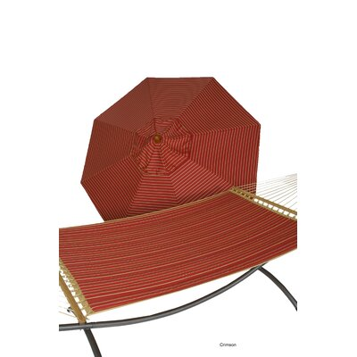 Phat Tommny Sunbrella Hammock with Umbrella Color: Crimson