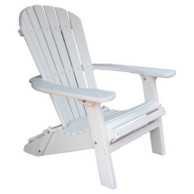 Buyers Choice Phat Tommy Folding Recycled Poly Adirondack Chair - Finish: Alpine White at Sears.com