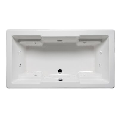 Quantum 72 x 36 Drop in Whirlpool Bathtub Finish: Biscuit
