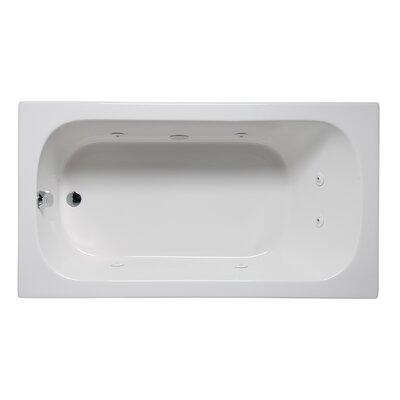 Miro 72 x 32 Drop in Whirlpool Bathtub Finish: White