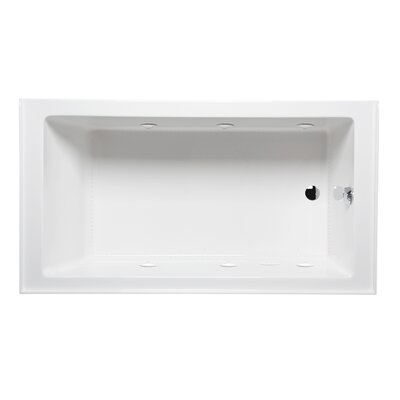 Turo 60 x 30 with Luxury Series and Airbath II System Alcove/Tile in Whirlpool Tub Drain Location: Right, Color: Biscuit