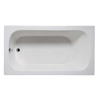 Miro 66 x 32 Drop in Soaking Bathtub Finish: White