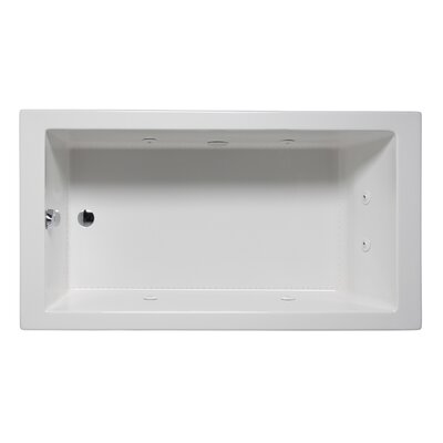 Wright 60 x 32 Drop in Whirlpool Bathtub Finish: White