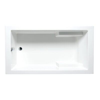 Nadia 60 x 32 Drop in Soaking Bathtub Finish: White