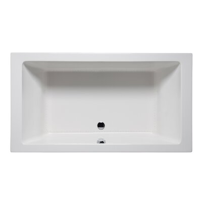 Vivo 66 x 42 Drop in Bathtub Finish: White