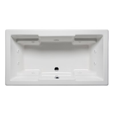 Quantum 66 x 42 Drop in Whirlpool Bathtub Finish: Biscuit