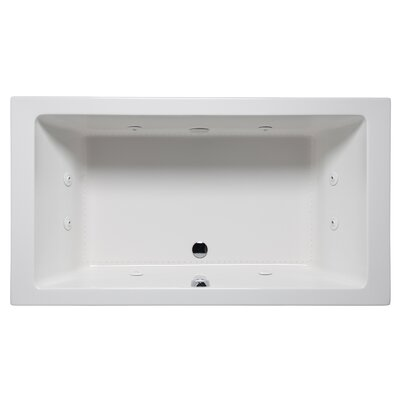 Vivo 66 x 42 Drop in Whirlpool Bathtub Finish: Biscuit