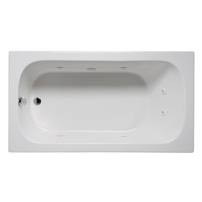 Miro 66 x 32 Drop in Whirlpool Bathtub Finish: Biscuit