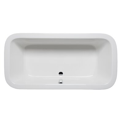 Nerissa 72 x 36 Drop in Soaking Bathtub Finish: White