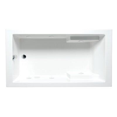 Nadia 72 x 36 Drop in Whirlpool Bathtub Finish: White