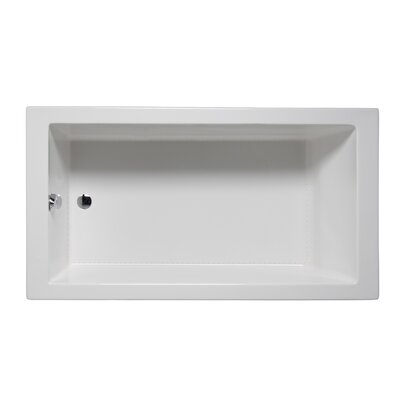 Wright 66 x 32 Drop in Bathtub Finish: Almond